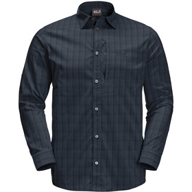 Jack Wolfskin Rays Flex Longsleeve Heren, night blue checks